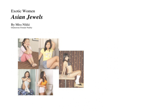 Nude Female Photo eBook Exotic Women- Asian Jewels